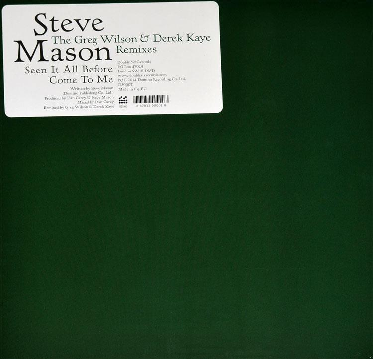 "DS090 Double Six  Steve Mason Seen it All Before / Come to Me (12"")"