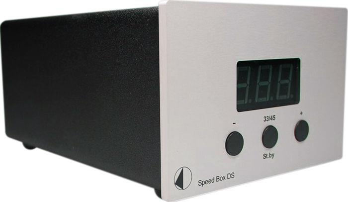 PR9057DS Pro-Ject  Pro-Ject Speed Box DS, sølv Premium, quartz motorkontroll m/display