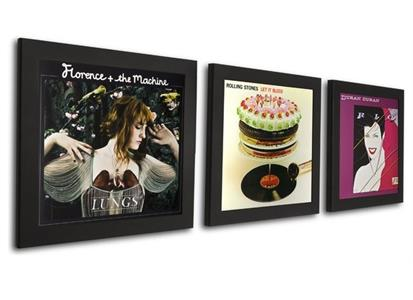 PR90953B Art Vinyl  Play & Display LP-ramme, svart, 3-pack