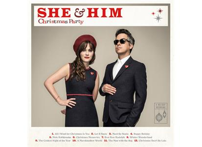 88985371561 Columbia  She & Him Christmas Party (LP)