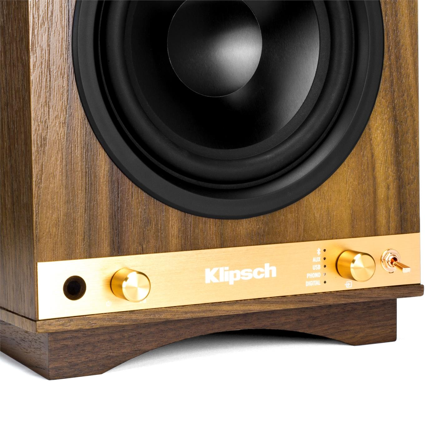 1063288 Klipsch  Klipsch THE SIXES, Walnut Aktive Høyttalere, Bluetooth, RIAA