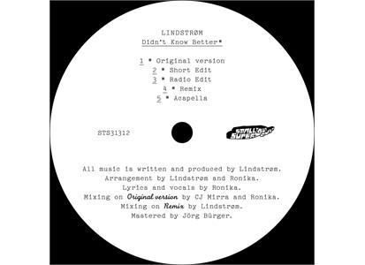 "STS31312 Smalltown Supersound  Lindstrøm Didnt Know Better (12"")"
