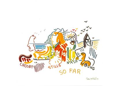 0603497855520 Rhino  Crosby, Stills, Nash & Young So Far (LP - HVIT)