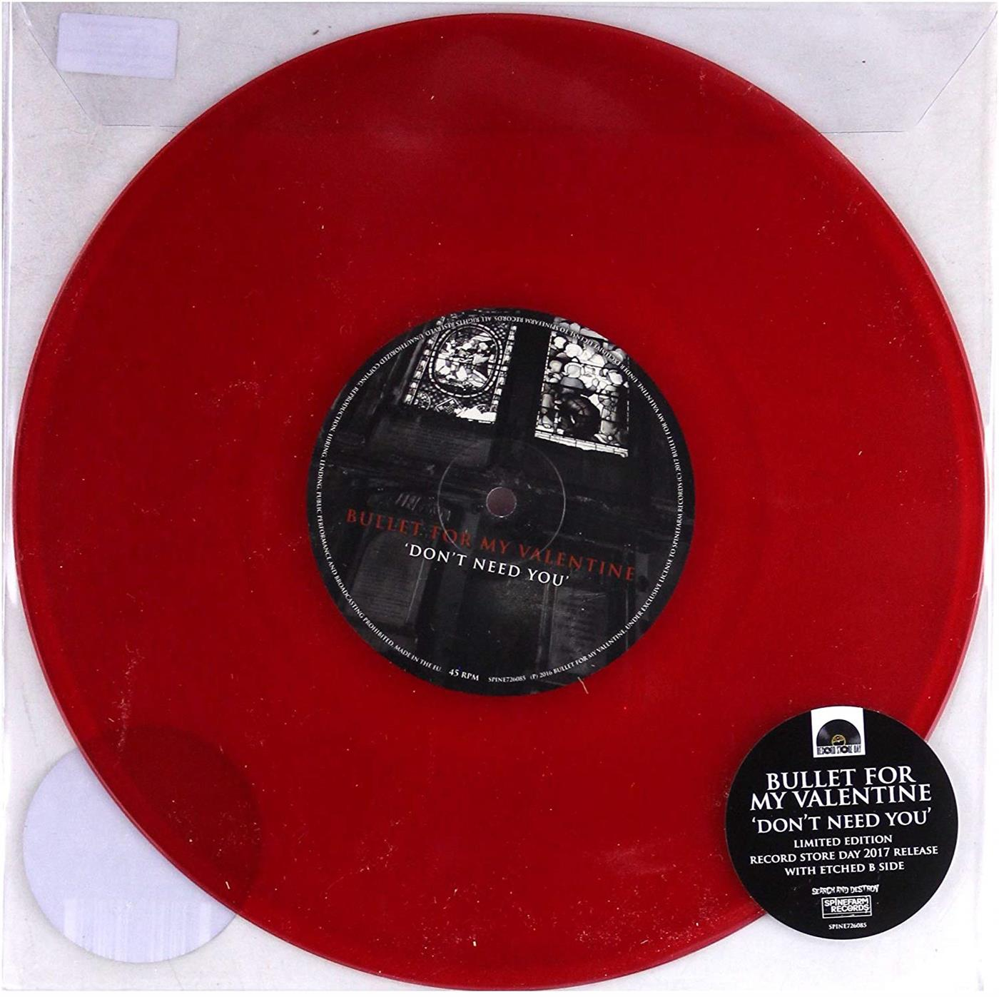 "0602557260854 Spinefarm  Bullet For My Valentine Don't Need You - LTD (10"")"