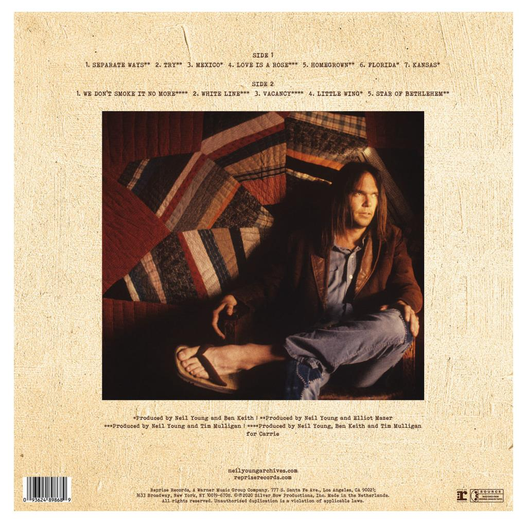 0093624893639 Reprise  Neil Young Homegrown (LP)