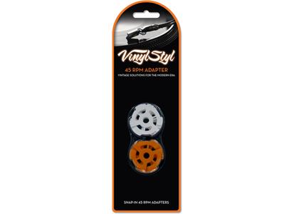 "VS-A-017 Vinyl Styl  Adapter til 7"" singler, Snap-In, 10 pk For singler med stort hull"