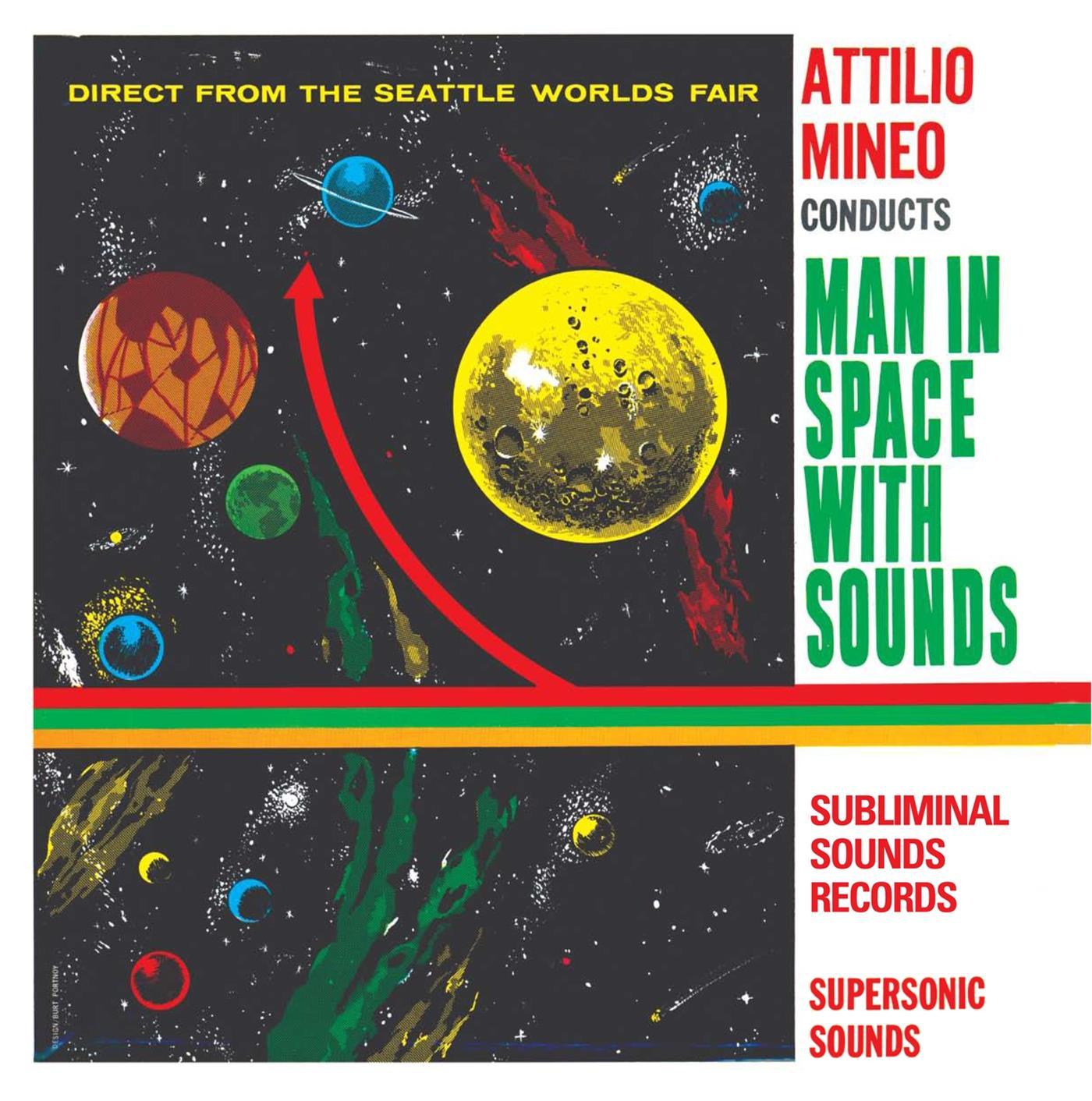SUB081LP Subliminal Sounds  Attilio MIneo Man In Space With Sounds (LP)